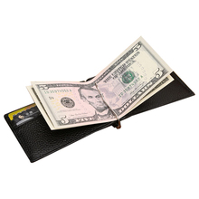 Men Real Leather Wallet with Money Clip Bifold Black Quality Guarantee Soft Leather Purse Male Practical