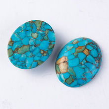 New Design Natural T-urquoise Stones Cabochons First Nation beadwork 18*25mm 10pcs/lot(China)