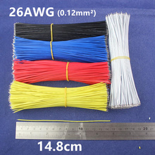 Free Shipping 50pcs pcb solder cable 26AWG 14.8cm Fly jumper wire cable Tin Conductor wires color choose(China)