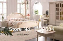 Modern home furniture bedroom set bed wardrobe nightstand dresser table dresser stool bedroom furniture set(China)