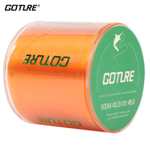 Goture 500M Strong Monofilament Color Nylon Fishing Line 6 Colors 4LB 5LB 8LB 10LB 13LB 14Lb 18LB 19LB 22LB 29LB 34LB 37LB 40LB(China)