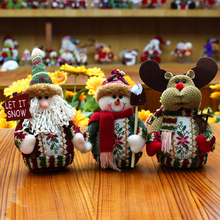 Xmas Christmas Car Decoration Ornament Plush Santa Claus Snowman Elk Deer Toy Automobile Interior Dashboard Decor Ornaments Gift(China)