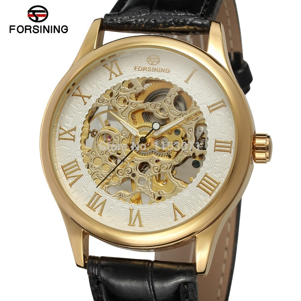 New mechanical watch FSG8094M3G1 Wholesale men watch popular design with silver color, with gold color roman numbers,skeleton,<br><br>Aliexpress