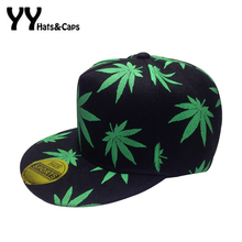 New Cotton Maple Leaf Snapback Fashion Weed Leaf Snapback Casquette Gorras Hip Hop Hats Men Women K Pop Cap Bone YY60300(China)