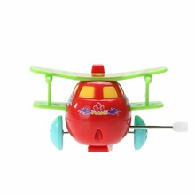 Hot Kids Airplane Model Lovely Plastic Wind-up Toy Fashion Classic Toys Color Random for Age 2 3 4 Years Children(China)