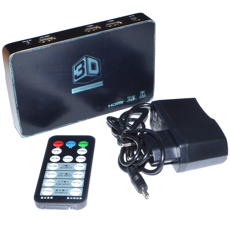 2D to 3D Video Converter Box Support 1080P 3D DLP Projector Media Processor Support HDMI 1 Out and 2 In For 3D TV&amp; Games12002170<br><br>Aliexpress