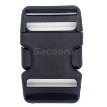"500pcs/pack Pack 1-1/2"" Webbing Arched Inserting Buckle Plastic for Travel Tactical Backpack(China)"