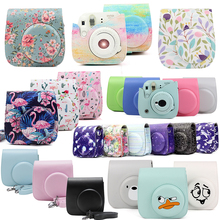 Fujifilm Instax Mini Camera Case Bag PU Lederen Cover met Schouderband Voor Instax Mini 9 Mini 8 Mini 8 + Instant Film Camera 'S(Hong Kong,China)