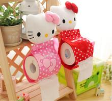 Kawaii Hello KITTY Home & Bathroom Tissue Case Box Container Towel Napkin Papers BAG Holder BOX Case Pouch Tissue box