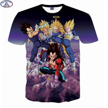 Mr.1991 Newest Japanese cartoon anime 3D t-shirts for boy's Dragon Ball kong fu t shirt teens big kids tshirt children tops A17