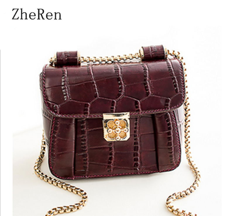 The new spring and summer 2017 fashion Crocodile Bag all-match chain Shoulder diagonal cross small Bag lady<br><br>Aliexpress