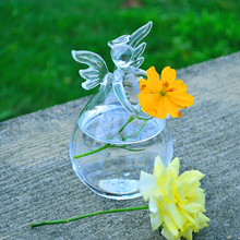 Clear Angel Round Hanging Glass Vase Bottle Terrarium Hydroponic Container Pot Flower DIY Home Table Wedding Garden Decoration
