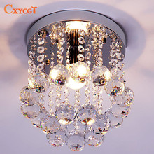 Energy-Saving LED Luxury Crystal Chandelier Simple Small Aisle Stair Hallway K9 Ceiling Lamp