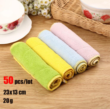 50 Pcs/lot Absorbent Micro fiber Cleaning Cloth Wiping Dust Cloths Manufacturer Wholesale(China)