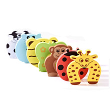 Child kids Baby Animal Cartoon protection Jammers Stop Door stopper holder lock Safety Guard Finger Protect E001
