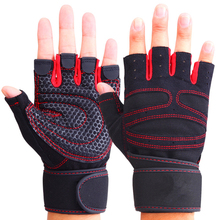 Fitness Bodybuilding Gloves Weightlifting Gym Gloves powerlifting Training Crossfit weight loss 3 color 3 size(China)