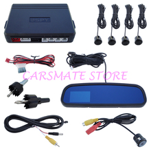 Good Quality SPY Car Parking Sensor System With 3.0 Inch TFT Display Rearview Mirror And 4 Sensors for DC 12V Cars Carsmate(China)