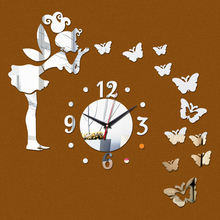 2017 Sale Acrylic Wall Sticker Mirror Stickers Still Life Adesivo De Parede Diy Home Decor Butterfly Horse Wall Clock Photo Wall(China)