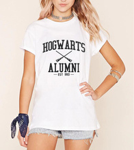 Alumni Mike streetwear Hogwarts Magic Camisetas Inspired T-Shirt American Apparel  For Men Women summer 2017 fashion design