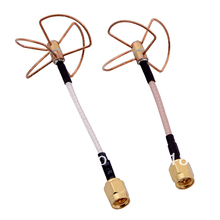 FPV 5.8G 5.8ghz Clover 3 Blade Transmitting w/ 4 Blade Receiving Aerial Antenna (TX w/ RX) Straight/Bore Connector for fatshark