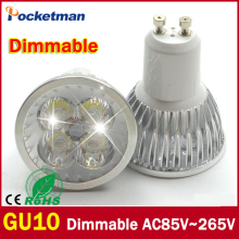 1pcs Super Bright 3W 4W 5W GU10 LED Bulbs Light 110V 220V Dimmable Led Spotlights Warm/Cool White GU 10 base LED downlight(China)