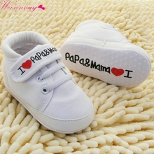 0-18M Baby Mocassins Infant Kids Boy Girl Soft Sole Canvas Sneaker Toddler Newborn Shoes Hot(China)