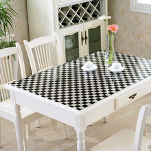 Customization Soft Glass Transparency PVC Tablecloth Waterproof Party Home Kitchen Dining Room Placemat Pad Thickness 1.0mm
