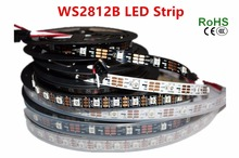 1m/5m WS2812B Smart led pixel strip,Black/White PCB,30/60/144 leds/m WS2812 IC;WS2812B/M 30/60/144 pixels,IP30/IP65/IP67 DC5V
