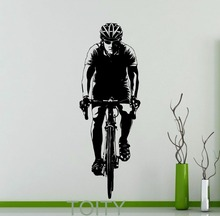 Buy Cyclist Bicyclist Bicycle Wall Sticker Cycling Sport Vinyl Decal Home Room Interior Art Decor Dorm Studio Club Art Mural for $16.07 in AliExpress store