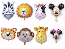 8 styles cartoon baby balloons animal balloon foi balloon party cartoon decoration children gift toy supplies