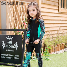2017 New quality Kids surfing wetsuits for boy/girls surf wear swimsuit Cute children diving suit with uv protection swimwear