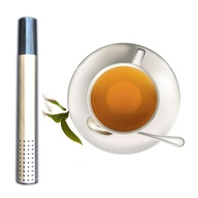 1 pcs Tea Strainer Stick Stainless Steel Pipe Design Mesh Tea Filter Coffee Teapot Tools Portable Tea Infuser