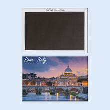 Rome, Italy, the Tiber river, St. Peter's Cathedral 22403 Souvenirs of  Worldwide Tourist;  Home Furnishing decoration.Magnet.