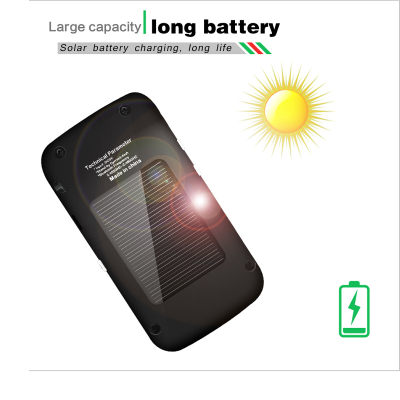 E0176-(with LCD display)Solar Bluetooth Car Kit Handsfree-6 (5)
