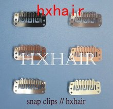 Wholesale - 100pcs 32mm Wigs Snap Clips / Toupee Snap Clips for Hair Extension / Weft Hair Extensions