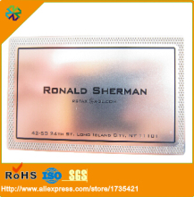 new arrival!stainless steel mirror surface effect mirror metal business card for business/membership/club(China)