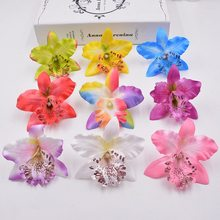 100pcs Orchid Artificial Flower Gladiolus For Wedding Car Home Decoration Orchs Mariage Lily Flores Cymbidium Flowers Plants(China)