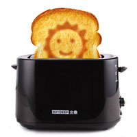 Basons buydeem d504 fully-automatic toaster household smiley toaster small home appliance