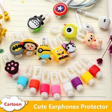 Cartoon Cute Headphone Earphone Cable Protector Cord Protection Cable wire Winder Manager Organizer For Apple iPhone 5s 6 6s 7
