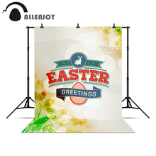Allenjoy photo backdrop Easter glitter blur rabbits New vinyl backdrops for photography Christmas presents professional camera