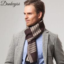 DANKEYISI 2017 Winter Men Scarf Cashmere Warm Shawls Brand Designer Wraps Plaid Bandana hijab Autumn Scarves for Men Male