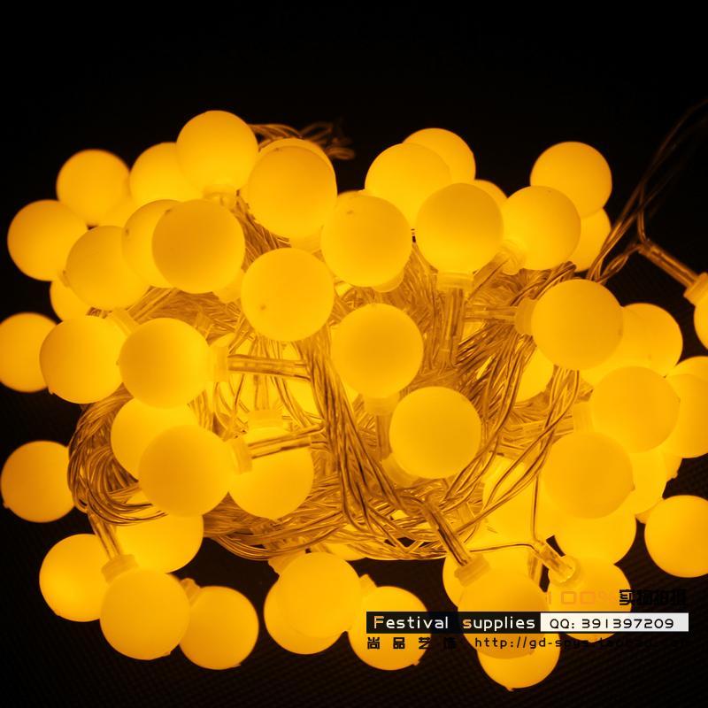 Led lights flasher lamp set ball lighting string garden lights chromophous 20 spherule meters decoration lamp<br>