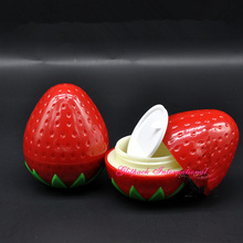 30pcs/lot Adorable Fruit Shape Strawberry Cosmetc Cream Container,30g Empty Jars with lids,Double Wall Cosmetic Packaging DIY