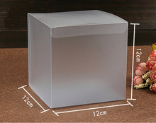 30pcs 12*12*12cm frosted plastic pvc box packing boxes for gifts/chocolate/candy/cosmetic/crafts square Matte pvc Box