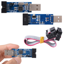 USBasp USB ISP Programmer 3.3V / 5V AVR ATMEL ATMega8 Download Pin IDC Cable USB TE141