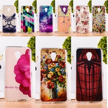 DIY Painted Soft TPU & Hard Plastic Phone Case For Meizu M2 Note Meilan Note 2 Cell Phone Cover Anti-Knock Function Phone Bags