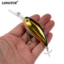 New 1pcs Hard Crank Fishing Lures Artificial Make 10cm/14g Wobblers Fishing Tackle 5 Colors Available Plastic Hard Baits Pesca(China)