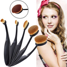 2017 Maquiagem 5Pc Cosmetic Oval Toothbrush Blush Makeup Brushes Set Powder Foundation Beauty Eyeshadow Cosmetic Kit Accessories
