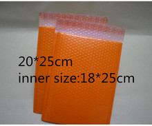 Qi 10pcs/lot 20*25cm Plastic Shipping mailing bags Orange padded envelopes bubble mailers Red bubble bags for Craft/Jewelry