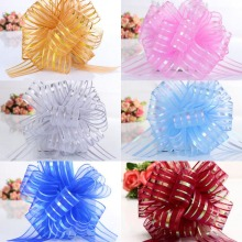 Wholesale 50pcs large size Organza Pull Bow Wedding car decoration marriage room Christmas Deco Gift Wrapping Ribbons